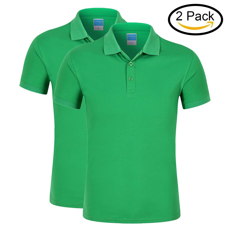 987705f4 Get Quotations · Averywin Polo T Shirts Womens 2 Pack, Polo Shirts Short  Sleeve Plain Polo Tee Shirt