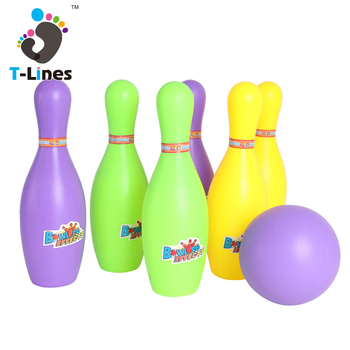 Wholesale mini ball set plastic pin bowling toys for kids