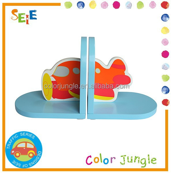 Cute airplane decro cheap bookends,kids room anime book end