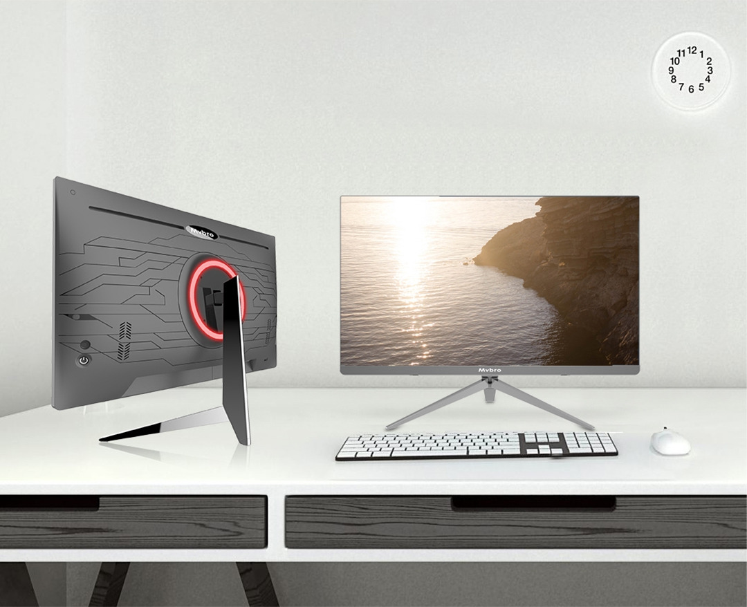 24 inch newest AIO PC with bezel less LCD and intel i3/i5/i7 CPU All In One desktop computer Factory