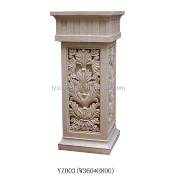 Small Stone Marble Interior Decorative Hollow Pillars For Homes Limestone  Columns