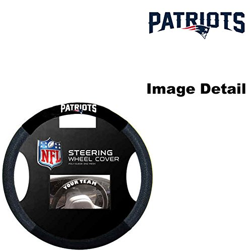 New England Patriots NFL Team Logo Car Truck SUV Poly-Suede Mesh Steering Wheel Cover