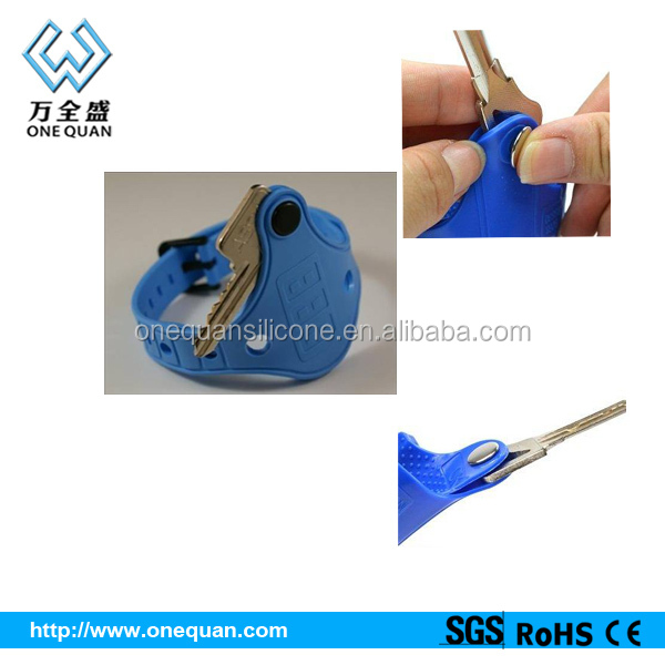Silicone Wristband Key Holder Plastic