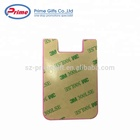 Wallet Custom Logo Printed Adhesive Silicone Cell Phone Wallet For Promotions
