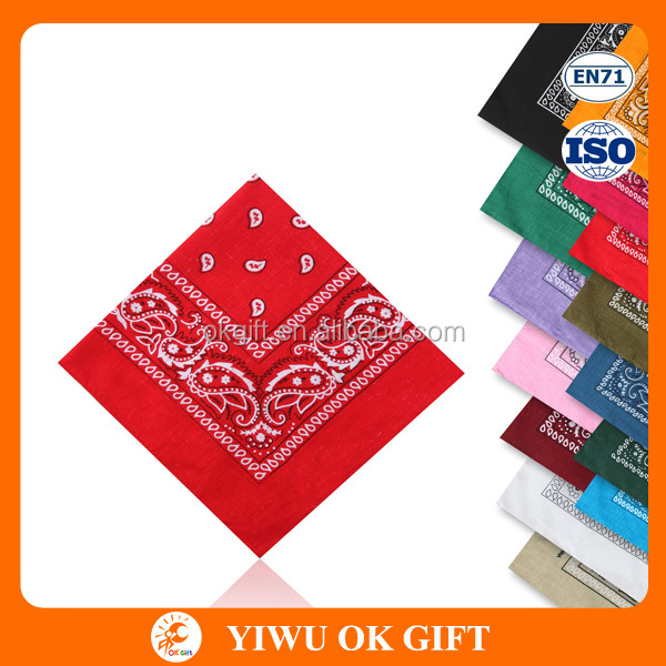 Wholesale Hip Hop Multifunctional Cotton Paisley Bandana