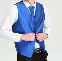 high quality man's wedding vest+bow tie+hanky+tie sets
