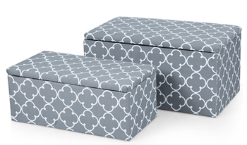 Fantastic Cross Print Storage Ottoman Bench With Fabric Cover Two Caraccident5 Cool Chair Designs And Ideas Caraccident5Info