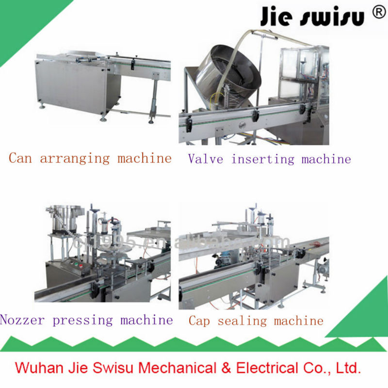 Automatic rechargeable racket insect killer filling production line ,aerosol palnt