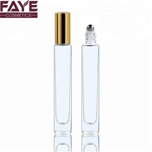Empty perfume vials 1/3 oz 10ml clear glass roll on bottles