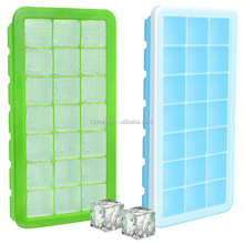 Food Grade Dishwasher Safe Green Blue Set of 2 Pack 42 Ice Cube Molds Silicon Ice Cube Tray Set