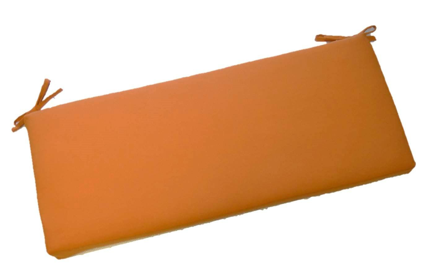 "Indoor / Outdoor Solid Elegant Harvest Orange 2"" Thick Cushion with Ties for Bench ~ Swing ~ Glider, Choose Size (55"" x 18"")"