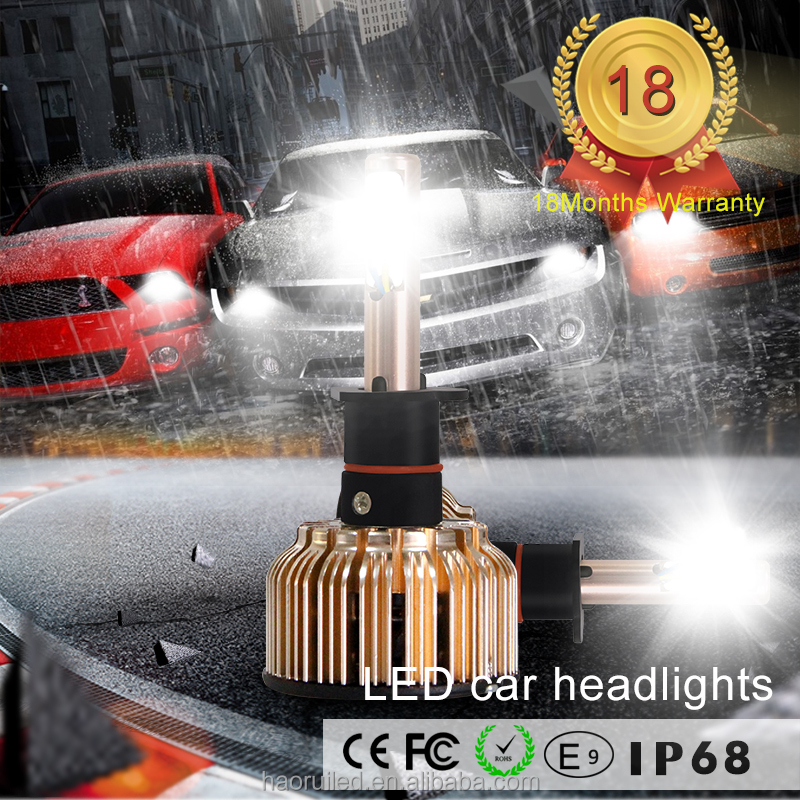 LED Headlights car with 3C H1 6000 lm 60w COB chips LED Headlight Bulbs auto LED Head light Lamp Car Accessories Shop