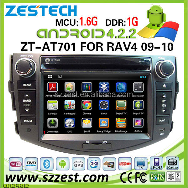 ZESTECH 4.4.4 Android <strong>car</strong> auto parts autoradio DVD GPS For <strong>Toyota</strong> RAV4 With Capacitive Screen DDR3 8GB Dual Core A9 WIFI 3G