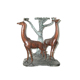 brass giraffe statue metal table base sculpture for sale