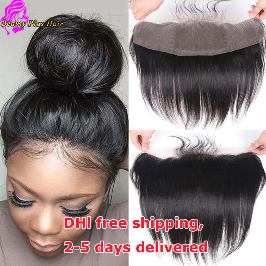 Cheap 13x4 Malaysian Straight Frontals Human Hair Ear To