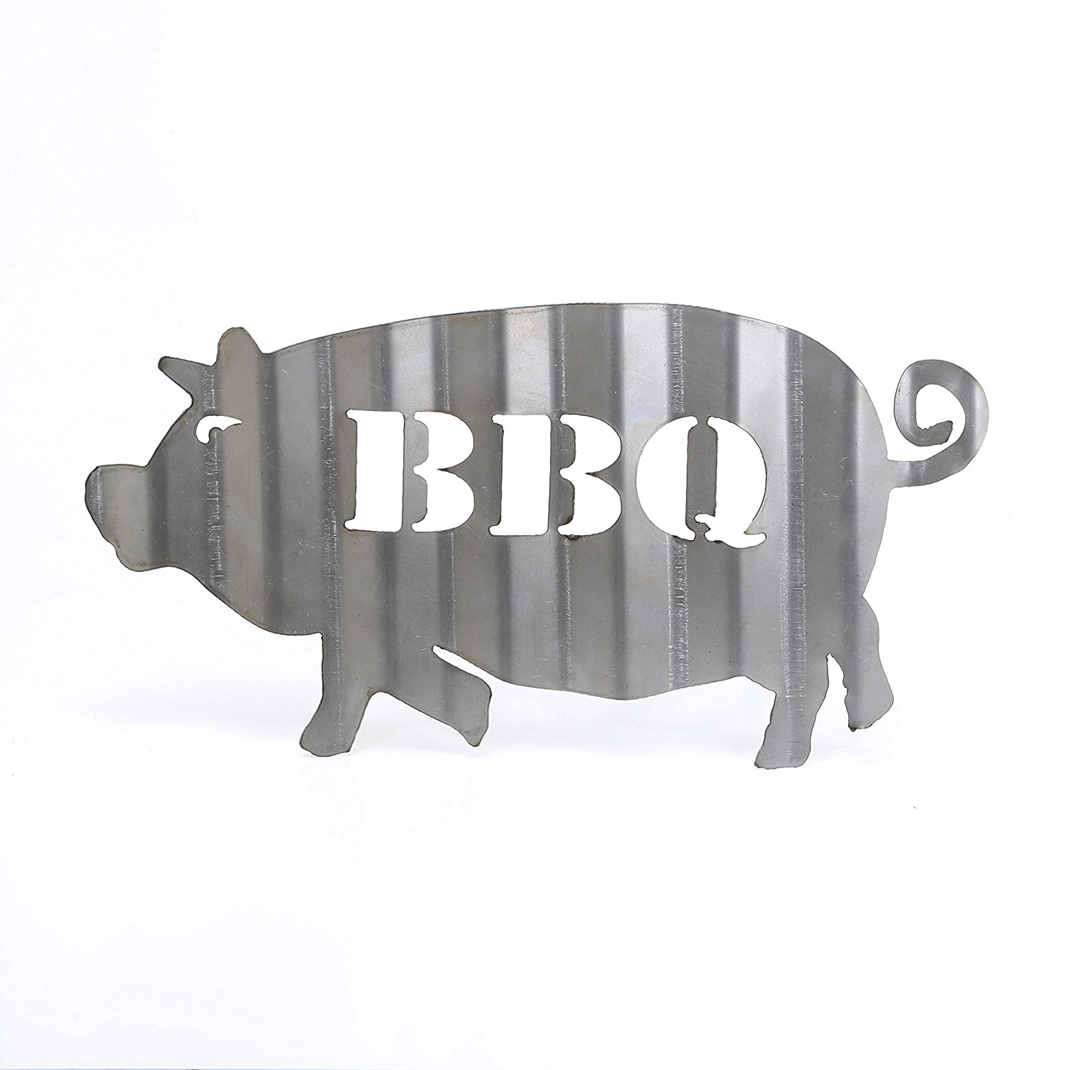 Buy Corrugated BBQ Pig Sign Barbecue Metal Sign Vintage Plasma Cut ...