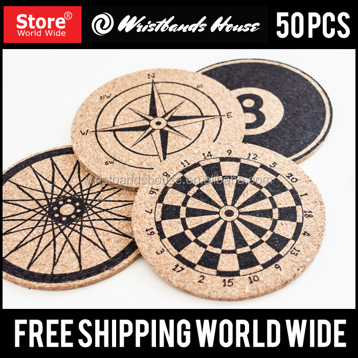 Cork Coaster | Custom Screen Printed Cork Coaster | Screen Printed Cork Coaster