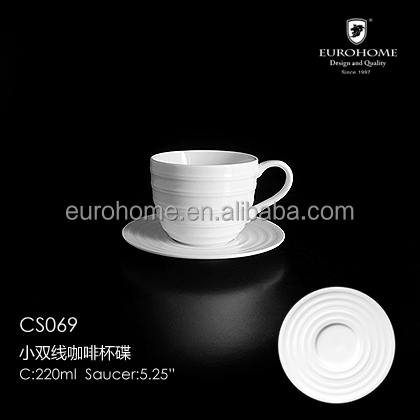 90cc Square Ceramic Porcelain espresso Coffee Cup and Saucer Set in simple pattern decal in Gift Box CS069