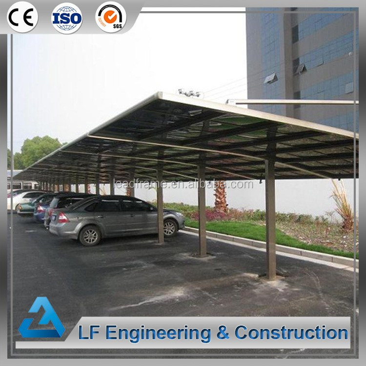 Hot selling steel arch car parking roof