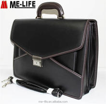 Business men leather classic briefcase men's handle case