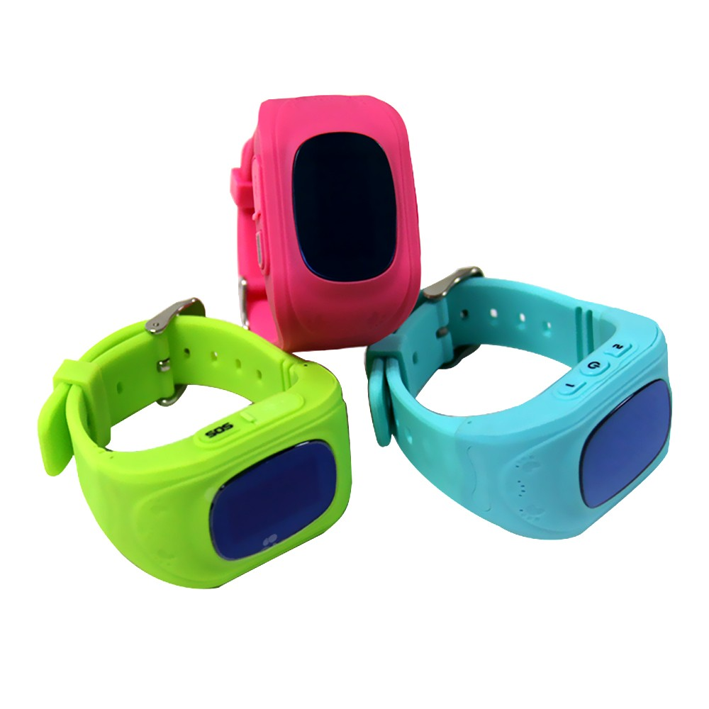 Anti-Lost kids gps tracker cell phone smart watch Q50 with sim card slot