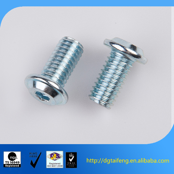 factory price bright zinc carbon steel allen dome head carriage bolts