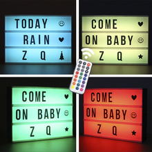 LED lighting sign outdoor cinema custom marquee remote control letter light box with colour changing