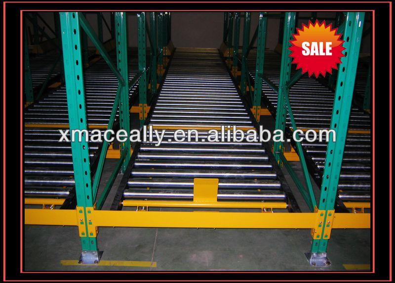 Warehouse Gravity Storage Slide Rail Rack