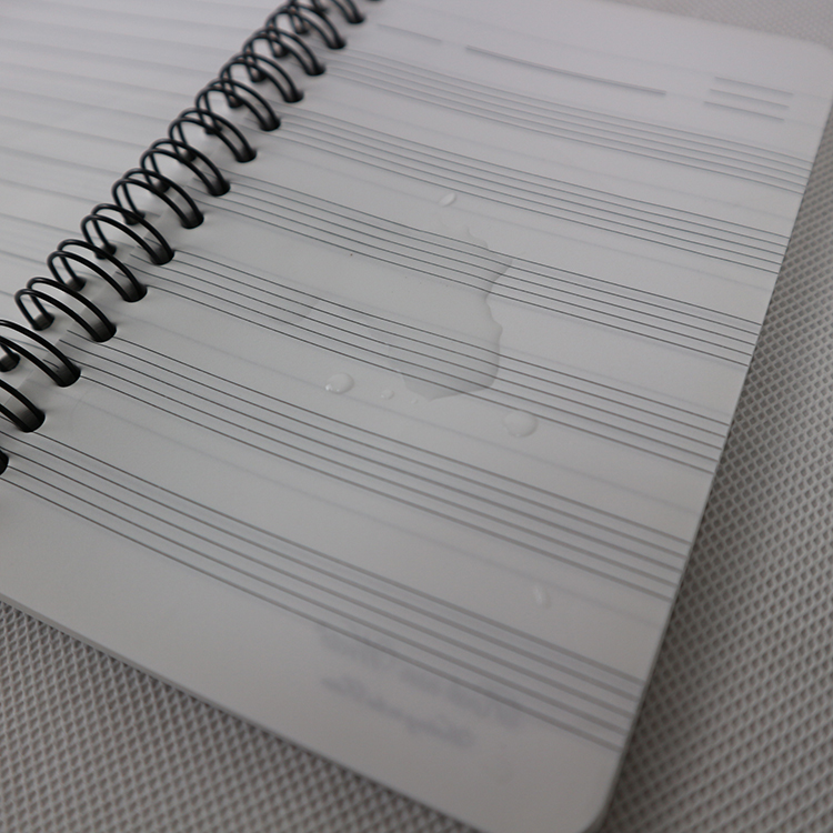 School notebook made of 120G stone paper and 0.5MM PP cover
