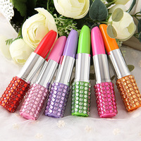 Custom Logo Promotional Gifts Artificial Lipstick Ball Point Pen