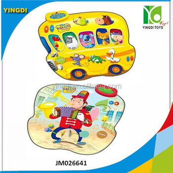 Musical 2 In 1 Playmat For Kids,Zippy Mat,Animal Bus & Musician ...