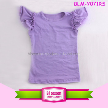 f46fd3d22 New Design Girls Tops Kids Flutter Tops Baby Girl T Shirts Blank Fancy Tank  Top