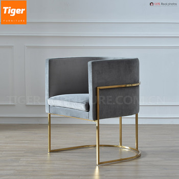Color Velvet Chair Dining With Brass Leg Guangdong Furniture