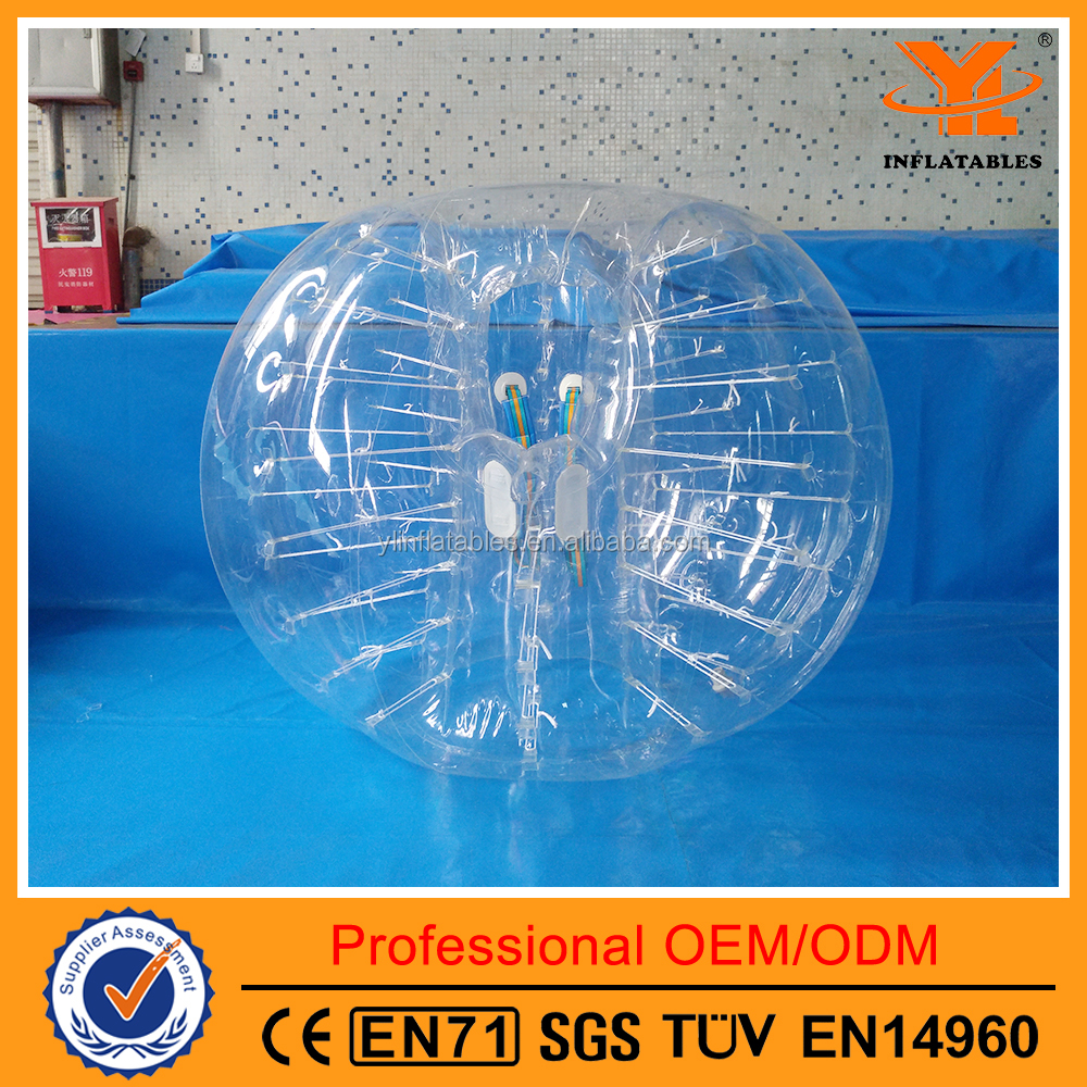 Customized Inflatable Transparent Bubble Soccer Ball ,Football Games for kids and Adults
