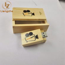 Laser engraving blanks usb flash drive with wooden box,wooden usb flash drive with logo