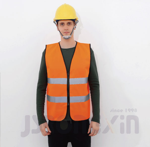 100% polyester Hivis <strong>orange</strong> reflective safety <strong>vest</strong>