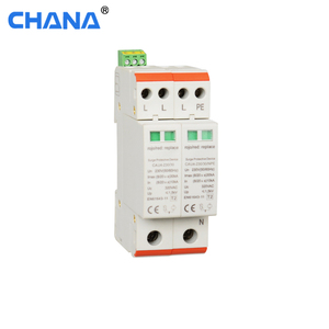CE Din Rail Signal terminal DPS 15ka lightning arrester three phase 3P + NPE surge protection device