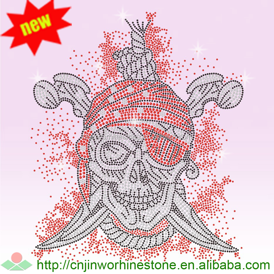 Beautiful skull Rhinestone Transfer Design skull (95)