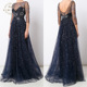 Sequined Party Wear Gowns For Ladies Full-length Evening Dress