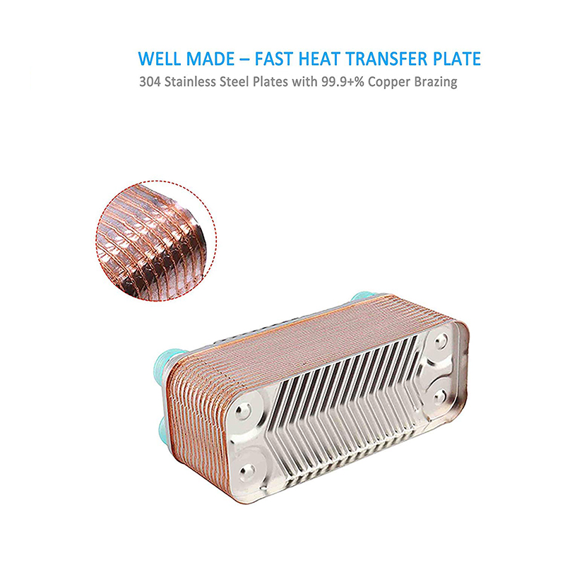 Stainless Steel Heat Exchanger Beer Wort Chiller 30 Plates Brazed Wort Chiller für Homebrew