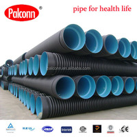 Plastic HDPE corrugated pipes for drain water good price