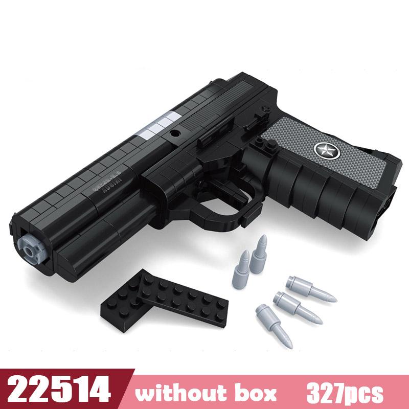 Револьвер пистолет Power GUN SWAT военная армейская модель Legoes Строительные блоки Кирпич Набор оружие PUBG Игрушки для мальчиков(Китай)