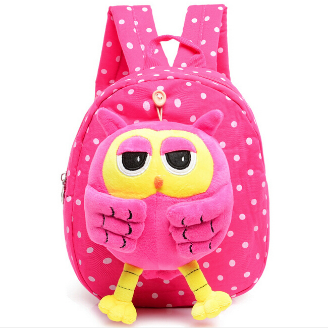 ShineStar Cartoon Children Canvas Owl School Bags Girls Kindergarten Backpack 2015 New Casual Travel Fashion Shoulder Bags YY136