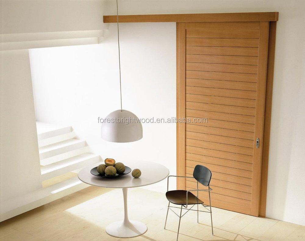 Veneered 1 Panel With Grooves Sliding Closet Doors Buy Closet