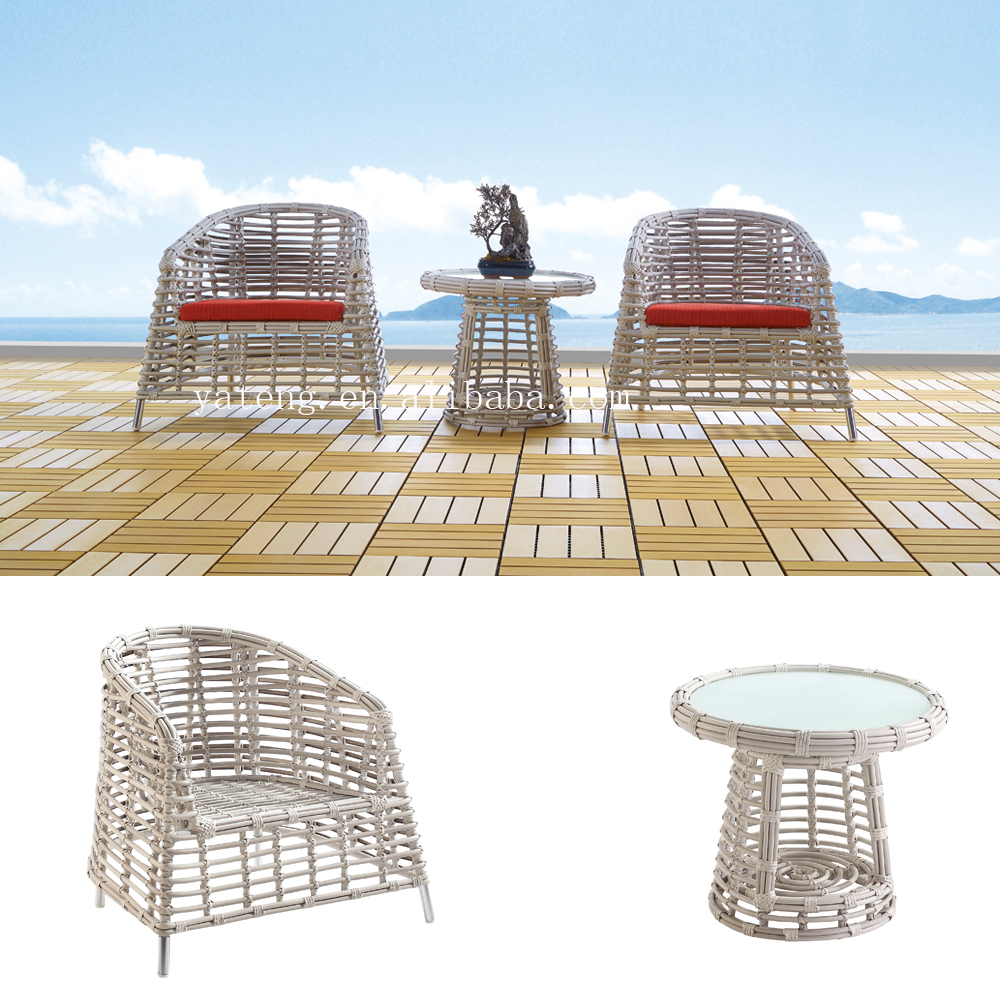 Royal design wicker outdoor sofa used holiday resort furniture