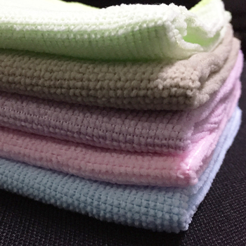 MOQ100 PCS Cheap Stock Multipurpose 12''*12'' Microfiber 80%polyester+20%polyamide Kitchen Cleaning Scrub Cloth Rag Towel