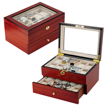 High End Wooden Watch Box for 20 Watches Storage