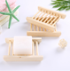 Home Creative Wooden Soapbox Toilet Big soap box Hole-free Drain Rack Portable Soap Dishes