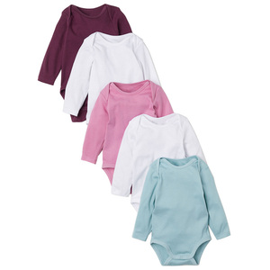 Infant clothing china 100% cotton long sleeve wholesale baby kids romper