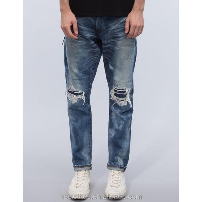 2017 Best Selling Unique Design Denim Damaged Jeans For Men - Buy Damaged JeansDamaged Jeans ...